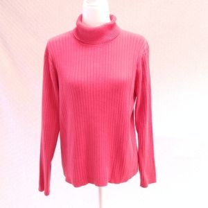 Izod Pink Ribbed Turtleneck Sweater
